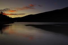 Orange Echoes [Explore] (mclcbooks) Tags: sky orange lake clouds sunrise reflections landscape rockies dawn colorado rockymountains