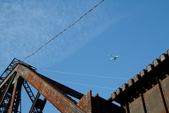 Seattle Industry and Ruins (Cargo Cult) Tags: seattle summer usa architecture washington technology aircraft bridges transportation railways aeroplanes