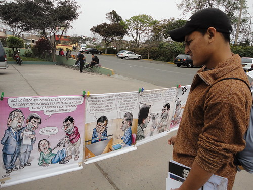 The exhibit at Lima's San Marcos University