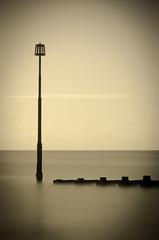 Calm (Jean-Francois Phillips) Tags: uk longexposure sea sepia eastbourne groyne eastsussex ndfilter neutraldensityfilter groynemarker