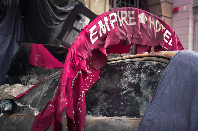 Crashed into Empire Hotel