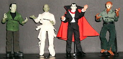 EMCE Universal Monsters Set (mrramsey37) Tags: dracula frankenstein actionfigures mummy wolfman mego universalmonsters emce