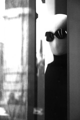 Dummy observer (Livietta) Tags: blackandwhite bw window glasses florence silent shy bn firenze dummy vetrina muta occhiali timida manichino