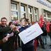 Bankenaktion beim Bundesparteitag