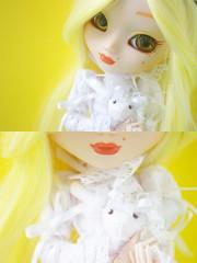 Yellow diptych (Valérie Busymum) Tags: yellow spring doll full wig pullip custom fc custo leeke obitsu