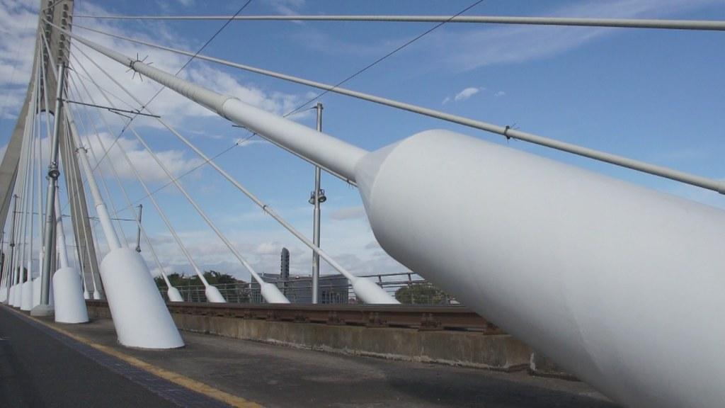 Luas Tram Crossing The William Dargan Bridge (Video Clip)