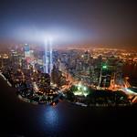 Bird's-eye view of Tribute In Lights
