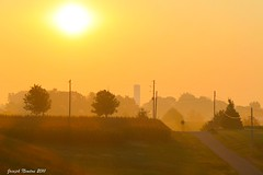 Country Sunrise (shoot that!) Tags: color fog sunrise canon dawn corn country silo doublyniceshot doubleniceshot tripleniceshot artistoftheyearlevel3 artistoftheyearlevel4 artistoftheyearlevel5 4timesasnice 6timesasnice 5timesasnice 7timesasnice artistoftheyearlevel7 artistoftheyearlevel6