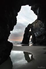 la catedral del mar  EXPLORE (RalRuiz) Tags: espaa mar galicia amanecer nubes reflejo formas lugo roca ribadeo cantbrico playadelascatedrales praiaascatedrais