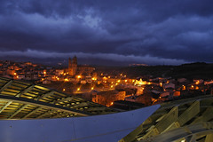 Marques de Riscal towards Elciego storm (0875) (glhs279) Tags: longexposure storm clouds spain gehry nighttime elciego nightimage marquesderiscal