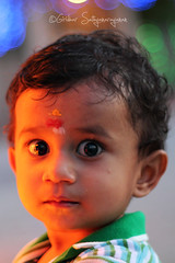 Innocence. (Giridhar Sathyanarayanan) Tags: baby cute beautiful beauty kid eyes expression lovely krishna giridhar sathayanarayanan