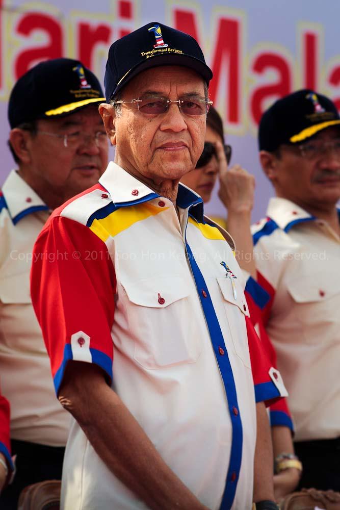 Tun Dr. Mahathir bin Mohamad @ Malaysia Day Celebration, Dataran Merdeka, KL, Malaysia