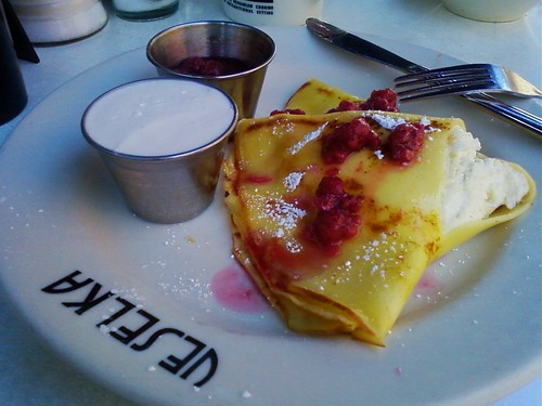 A blintz at Veselka