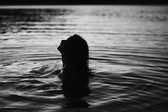 Emerge (annakwilliams) Tags: white lake black water girl dark emerge annakwilliams