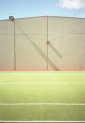 tennis court (scott_aus) Tags: film 35mm kodak melbourne rangefinder tennis 135 zuiko olympusxa tenniscourt ektar100 fzuiko35mmf28 ektar100190911