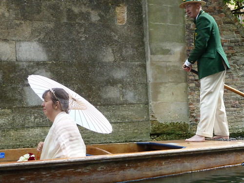Classic Punt Scene on River Cam
