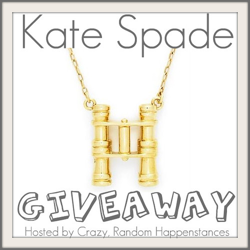 kate spade HANG IN THERE BINOCULAR PENDANT giveaway