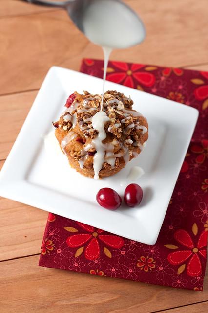 Pumpkin Cranberry Crunch Muffins
