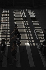 city life (ben ot) Tags: shadows zebra ombres passagepiton wisconsinchicago