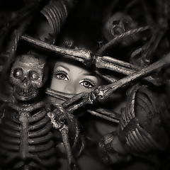 Optimism Explained... (Sea Moon) Tags: love toys death doll barbie plastic bones skeletons figures coping