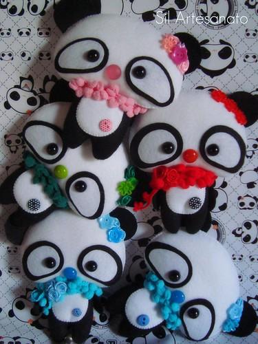 Pandas, pandas, pandas... by Sil Artesanato