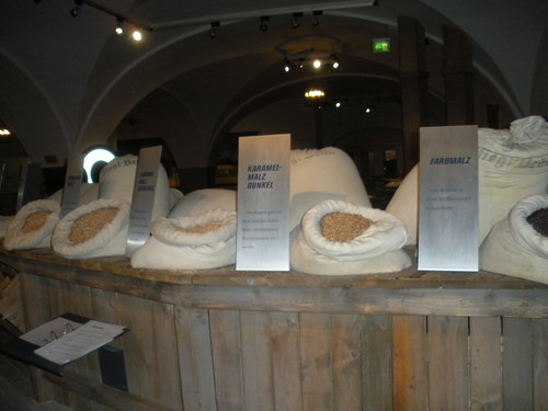Malt used in Beer making at Stiegl Brauwelt Salzburg Austria