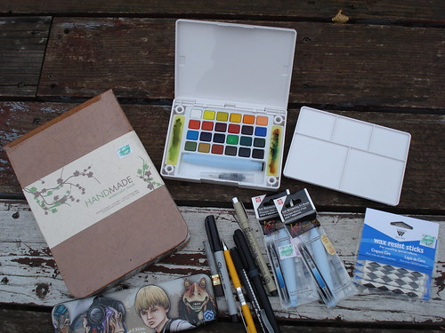 My watercolor supplies