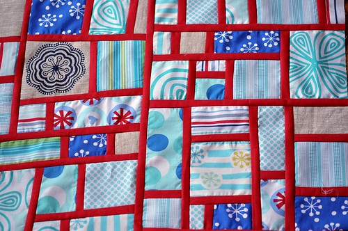 Andi's mod mosaic block for Tanya - detail