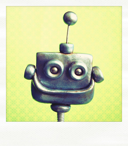 Sneak Peek | Robot filled with Rustic Happiness  by HerArtSheLoves