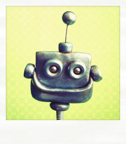 Sneak Peek | Robot filled with Rustic Happiness  by HerArtSheLoves