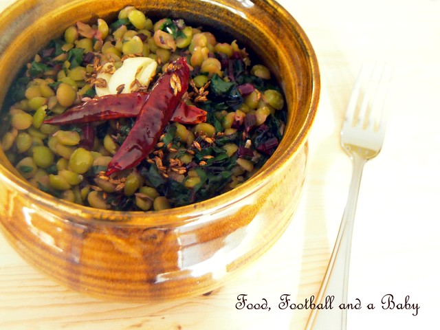 Beet Greens and Lentils