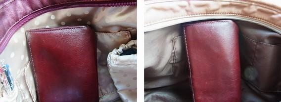 バッグ内側の布が明るくかわいくなった。『マルイのラクチン快適バッグ2011 』