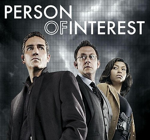 promo photo for Person of Interest. Two white guys in the front and Taraji in the back
