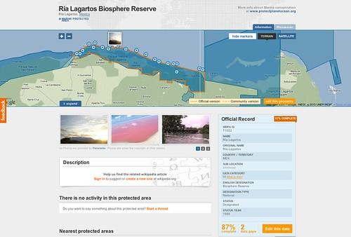 Ría Lagartos Biosphere Reserve @ Protected Planet 09.2011