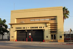 Lincoln Heights Fire Station 1 1297a (DB's travels) Tags: california losangeles moderne wpa newdeal pwa streamlinemoderne pwamoderne konomark