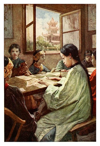 009-En la escuela-China 1910- Norman H. Hardy