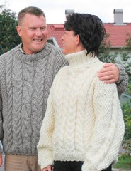 Together in sweater - love in wool (Mytwist) Tags: cabled aran jumper cables wool heavy irish wife love knitwear senior turtleneck style passion fashion husband married craft fisherman