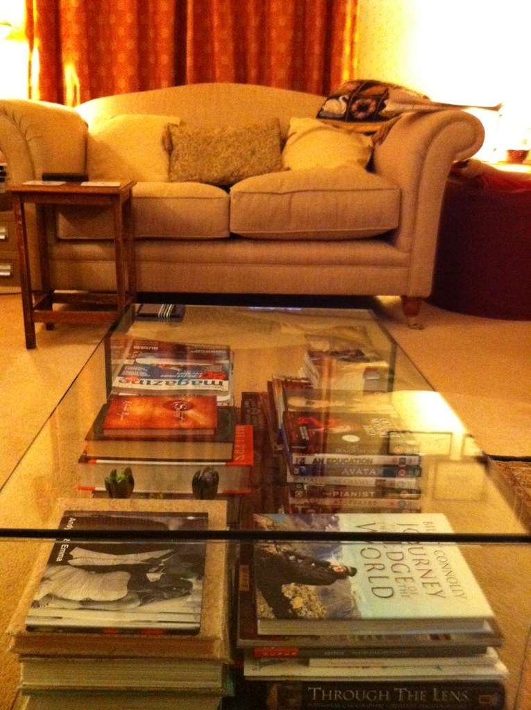 Glass coffee Table with storage