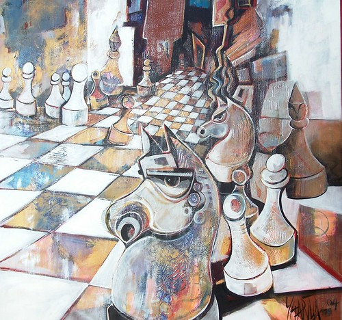 The Gathering - Painting - Neo Cubism