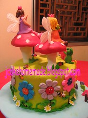 Fairyland cake (back view) (Jcakehomemade) Tags: flowers mushroom cake bees snail frog caterpillar ladybugs fairies 4thbirthday homemadecake fairycake partycake soniasbirthdaycake girlsbirthdaycake fairylandcake customizedcake childrenbirthdaycake jcakehomemadeblogspotcom jessicalaw noveltycakebirthdaycakedesignedcake
