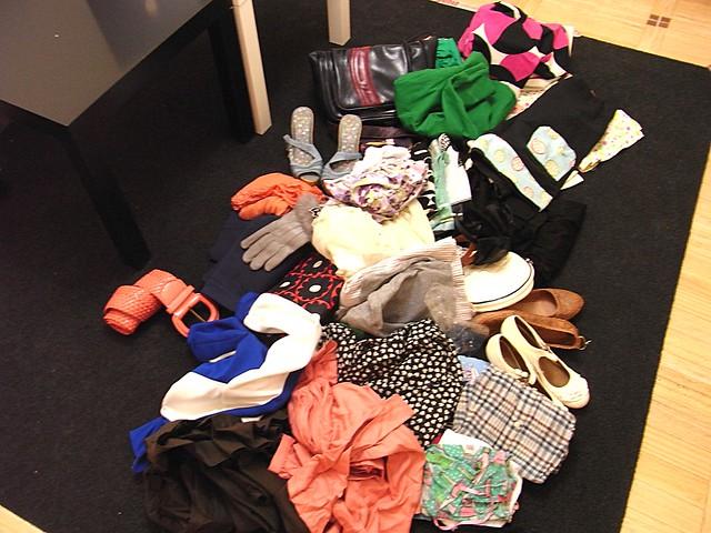 ropa tirada