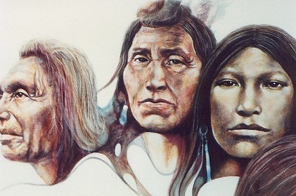 West Coast Natives - Painting - Realism