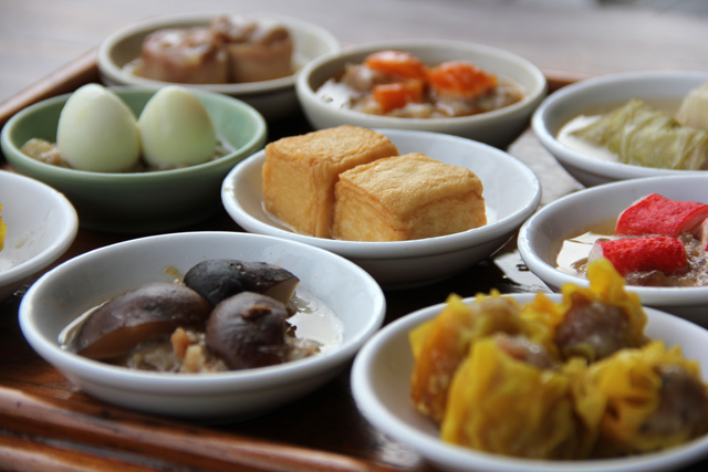 Eating Dim Sum in Krabi, Thailand
