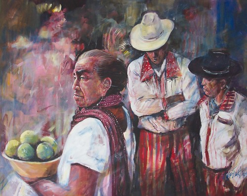 Native Mexico - Painting - Realism