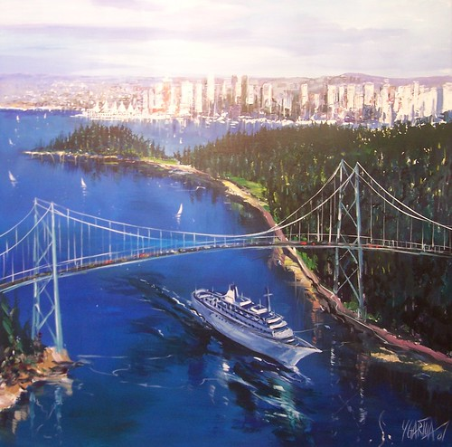 Lions Gate Bridge - Painting - Realism