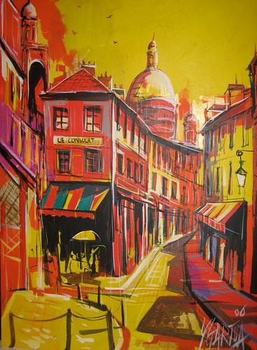 Paris Scene - Painting - Impressionistic