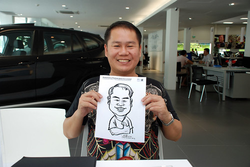 Caricature live sketching for Performance Premium Selection first year anniversary - day 3 - 14