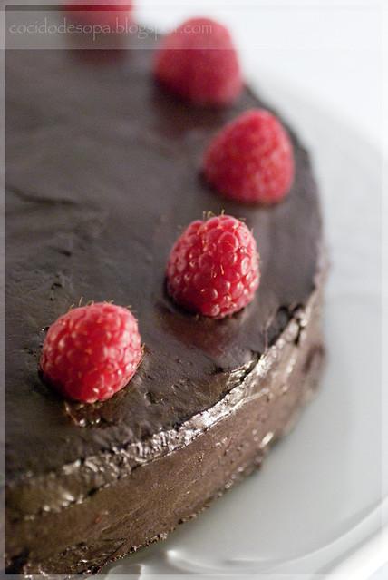 Tarta de chocolate y frambuesa_3