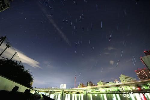 北極星と東京スカイツリー