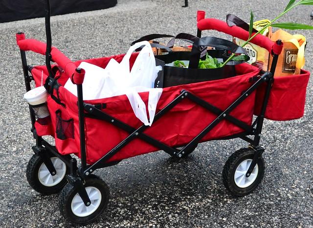 Wheeled Market Basket